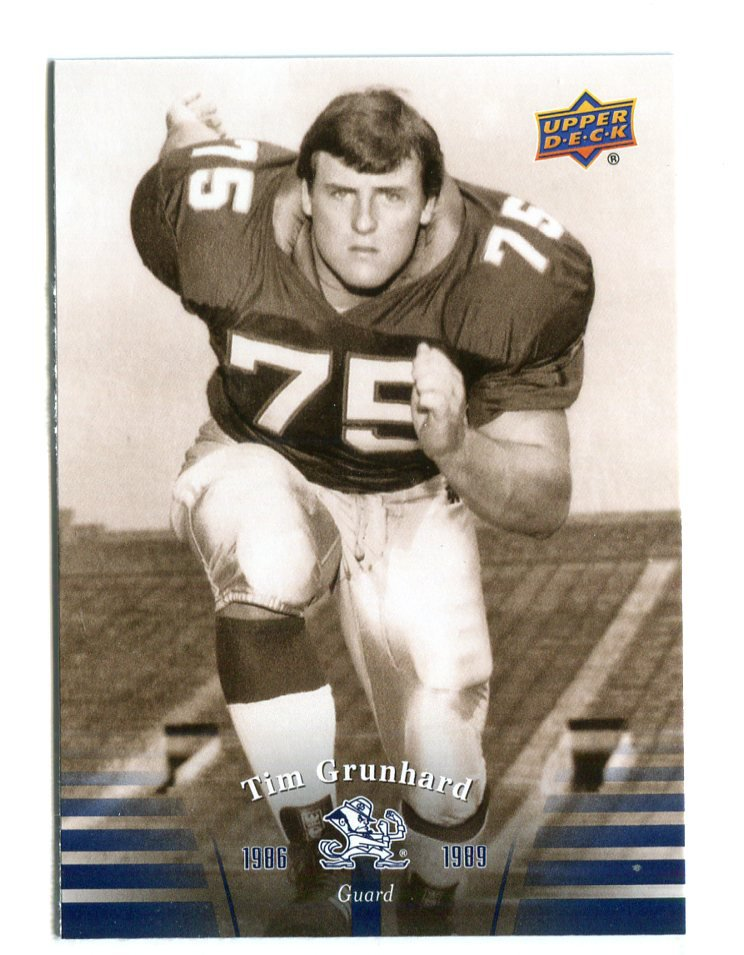 TIM GRUNHARD 2013 Upper Deck UD Collectible #48 Notre Dame Irish