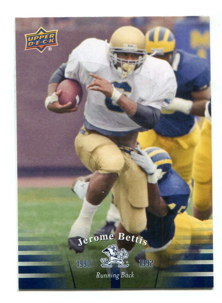 JEROME BETTIS 2013 Upper Deck UD Collectible #59 Notre Dame Irish STEELERS