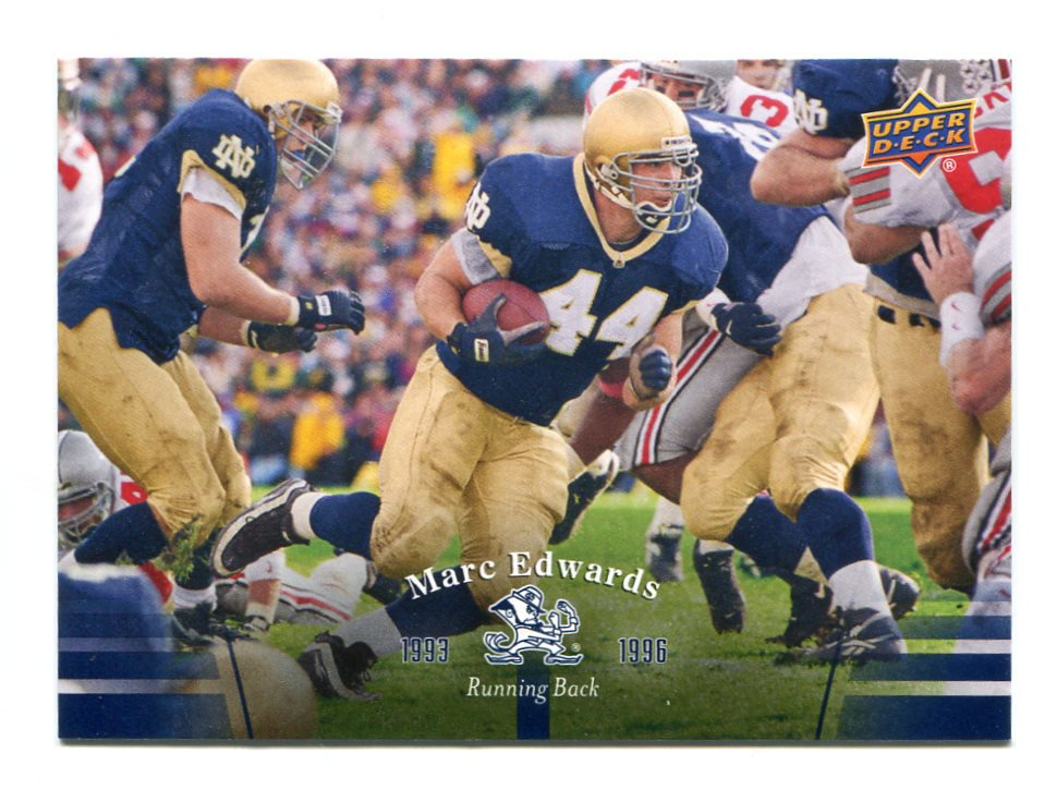 MARC EDWARDS 2013 Upper Deck UD Collectible #69 Notre Dame Irish