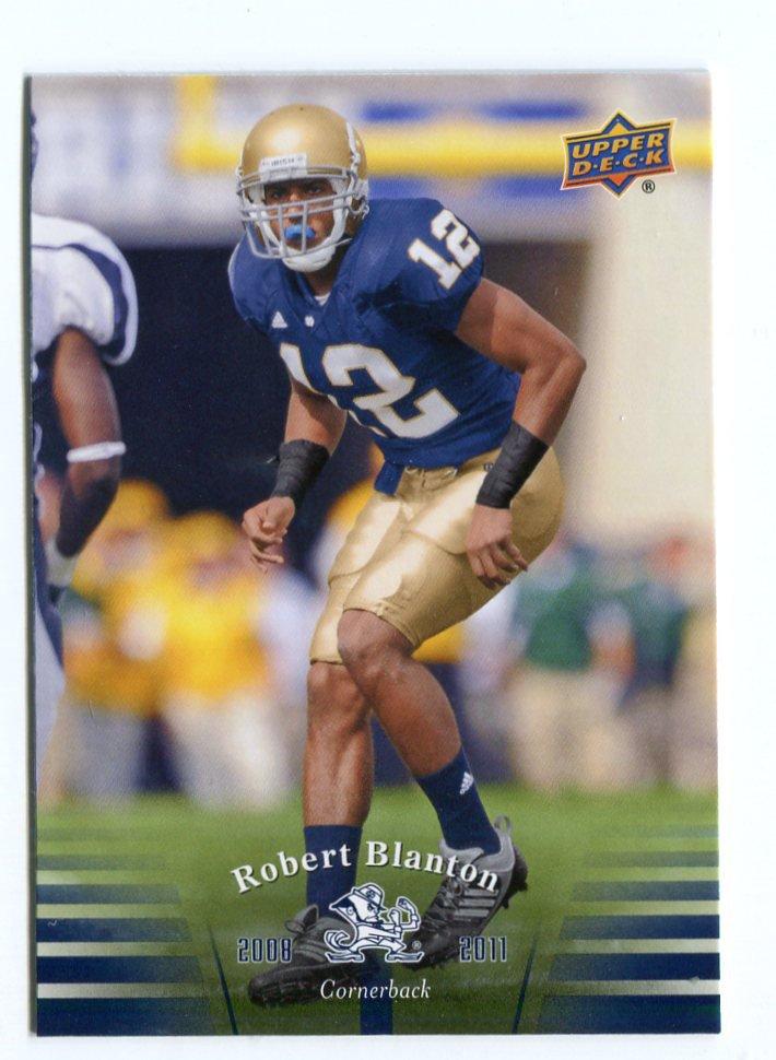 ROBERT BLANTON 2013 Upper Deck UD Collectible #86 Notre Dame Irish