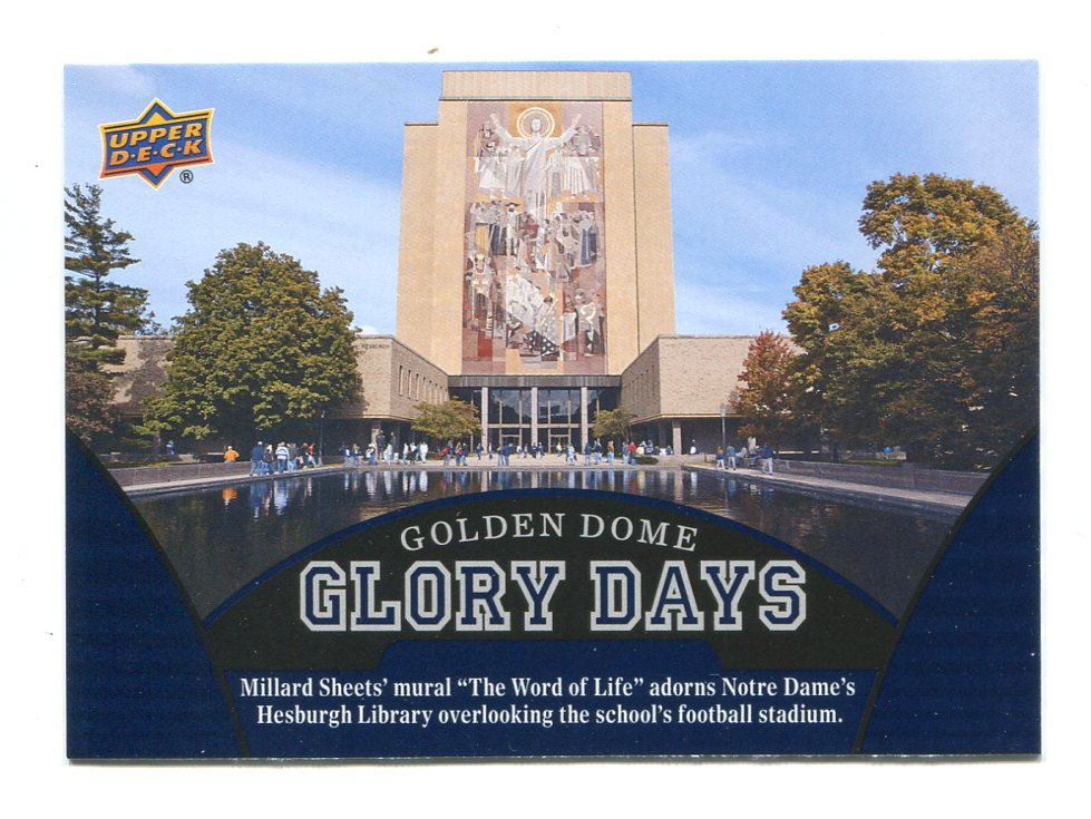 THE WORLD OF LIFE 2013 Upper Deck UD Collectible GLORY DAYS #99 Notre Dame Irish