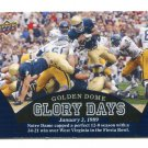 JANUARY 2, 1989 2013 Upper Deck UD Collectible GLORY DAYS #98 Notre Dame Irish