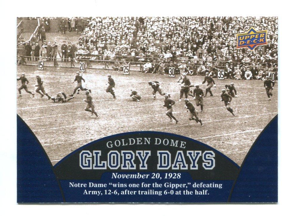 NOVEMBER 20, 1928 2013 Upper Deck UD Collectible GLORY DAYS #96 Notre Dame Irish