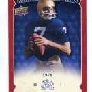 JOE THEISMAN 2013 Upper Deck UD Collectible All-Americans INSERT Notre Dame Irish QB