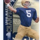 TERRY HANRATTY 2013 Upper Deck UD Collectible National Champions INSERT Notre Dame Irish QB