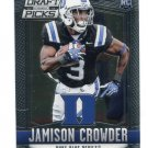 JAMISON CROWDER 2015 Panini Collegiate Draft Pick Prizm #198 ROOKIE Duke Blue Devils REDSKINS