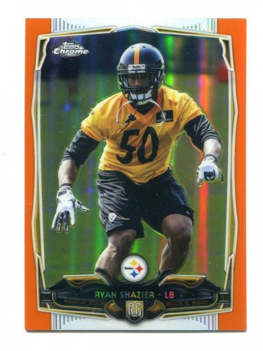 RYAN SHAZIER 2014 Topps Chrome ORANGE REFRACTOR #218 ROOKIE Ohio State Buckeyes STEELERS