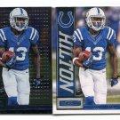 (2) T.Y. TY HILTON 2013 Panini R&S Base & Longevity INSERT #46 Colts