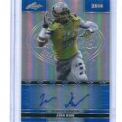 JOSH KING 2016 Leaf Army All-American AUTO BLUE PRISMATIC Michigan State 4-star DE #d/50
