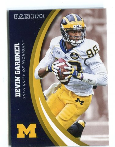 DEVIN GARDNER 2015 Panini Collegiate Collection #13 Rookie MICHIGAN WOLVERINES Steelers QB