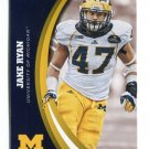 JAKE RYAN 2015 Panini Collegiate Collection #19 Rookie MICHIGAN WOLVERINES Packers