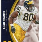 ALAN BRANCH 2015 Panini Collegiate Collection #43 MICHIGAN WOLVERINES Patriots