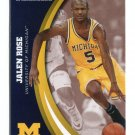 JALEN ROSE 2015 Panini Collegiate Collection #21 MICHIGAN WOLVERINES Bulls PACERS