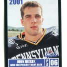 JOHN DIESER 2001 Big 33 Pennsylvania PA card VILLANOVA WR / DB