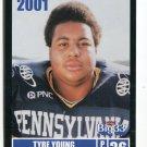 TYRE YOUNG 2001 Big 33 Pennsylvania PA card PITT Panthers FB / LB