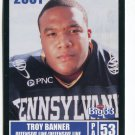 TROY BANNER 2001 Big 33 Pennsylvania PA card PITT Panthers OL / DL