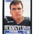 TYLER REED 2001 Big 33 Pennsylvania PA card PENN STATE OL