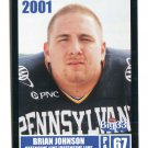 BRIAN JOHNSON 2001 Big 33 Pennsylvania PA card GENEVA  OL / DL