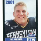 JOEL YAKOVAC 2001 Big 33 Pennsylvania PA card CINCINNATI Bearcats OL / DL