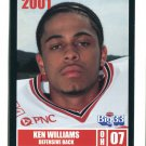 KEN WILLIAMS 2001 Big 33 Ohio OH card MINNESOTA Gophers DB