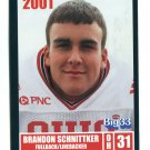BRANDON SCHNITTKER 2001 Big 33 Ohio OH card OHIO STATE Buckeyes FB / LB