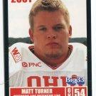 MATT TURNER 2001 Big 33 Ohio OH card PURDUE Boilermakers OL / DL
