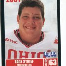 ZACH STRIEF 2001 Big 33 Ohio OH card NORTHWESTERN OL / DL