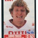 SIMON FRASER 2001 Big 33 Ohio OH card OHIO STATE Buckeyes OL / DL