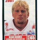BLAIR KRAMER 2001 Big 33 Ohio OH card BALL STATE OL / DL