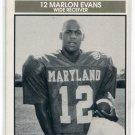 MARLON EVANS 1992 Big 33 Maryland MD High School card STANFORD CArdinal WR