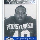 JULIAN GRAHAM 1995 Big 33 Pennsylvania PA High School card PITT PANTHERS