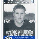 MATT MAPES 1995 Big 33 Pennsylvania PA High School card DUKE Kicker