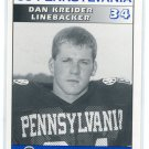 DAN KREIDER 1995 Big 33 Pennsylvania PA High School card STEELERS FB