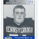 ERIC COLE 1995 Big 33 Pennsylvania PA High School card PENN STATE