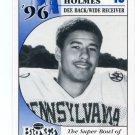 LEE HOLMES 1996 Big 33 Pennsylvania PA High School card UCONN Huskies WR / DB