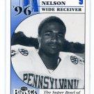 RAKI NELSON 1996 Big 33 Pennsylvania High School card NOTRE DAME Irish WR