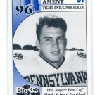 RANDY AMENT 1996 Big 33 Pennsylvania High School card DUKE