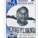 KENNY WATSON Big 33 Pennsylvania PA High School card PENN STATE Redskins BENGALS