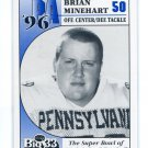 BRIAN MINEHART 1996 Big 33 Pennsylvania High School card PITT Panthers