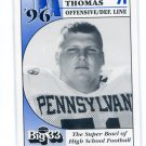 BEN THOMAS 1996 Big 33 Pennsylvania PA High School card MARYLAND Terps
