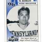 BRIAN w. REMLEY 1996 Big 33 Pennsylvania High School card VIRGINIA TECH Hokies