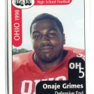 ONAJE GRIMES 1998 Big 33 Ohio OH High School card NORTHWESTERN