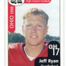 JEFF RYAN 1998 Big 33 Ohio OH High School card YOUNGSTOWN STATE QB