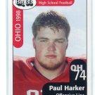 PAUL HARKER 1998 Big 33 Ohio OH High School card MICHIGAN STATE Spartans