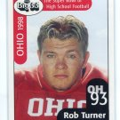 ROB TURNER 1998 Big 33 Ohio OH High School card PURDUE Boilermakers