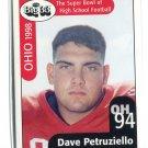 DAVE PETRUZIELLO 1998 Big 33 Ohio OH High School card MICHIGAN Wolverines