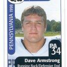 DAVE ARMSTRONG 1998 Big 33 Pennsylvania PA High School card MICHIGAN Wolverines