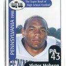 VICTOR HOBSON 1998 Big 33 Pennsylvania PA High School card MICHIGAN Wolverines NY JETS