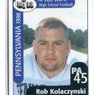 ROB KOLACZYNSKI 1998 Big 33 Pennsylvania PA High School card UCLA Bruins