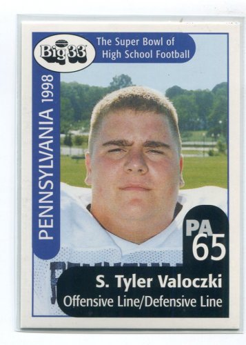 TYLER VALOCZKI 1998 Big 33 Pennsylvania PA High School card PENN STATE